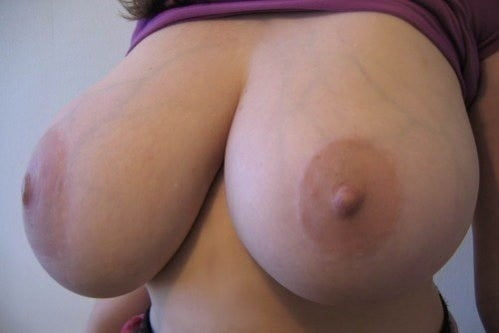 Skinny girl with huge natural tits-4709