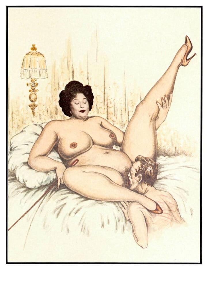 Рисованное порно толстушек