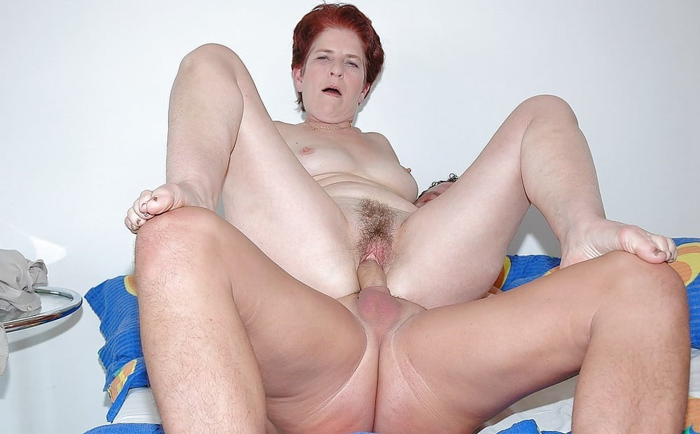 Hairy Redhead Mature Woman Gets Fucked