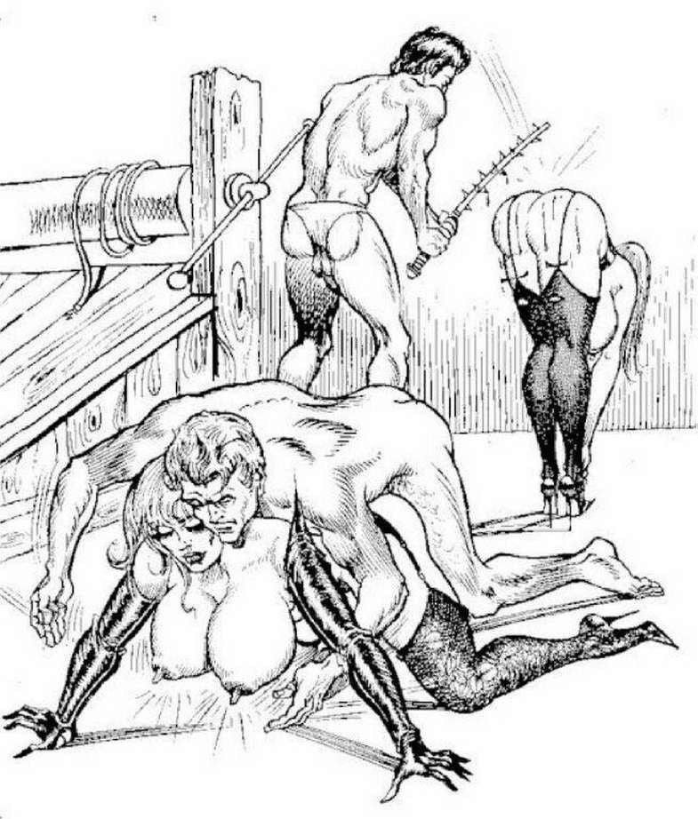 Мазохизм в рисунках бдсм — img 3