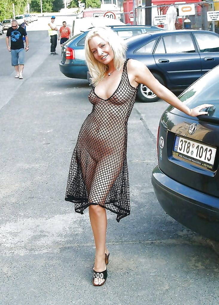 Blonde Blue Dress Strip