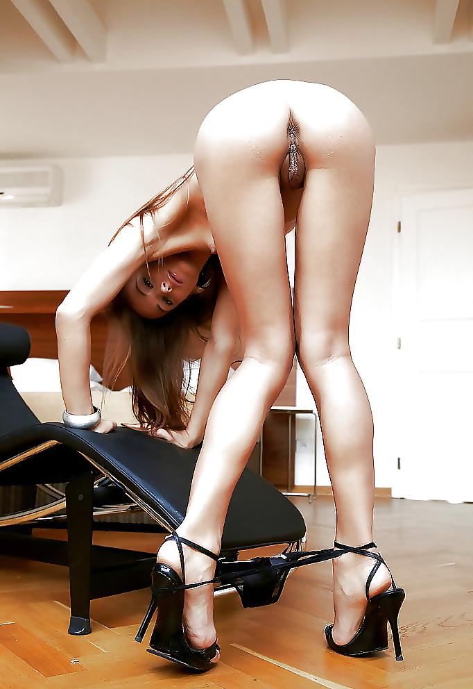 Her skinny nude ass bent over #12
