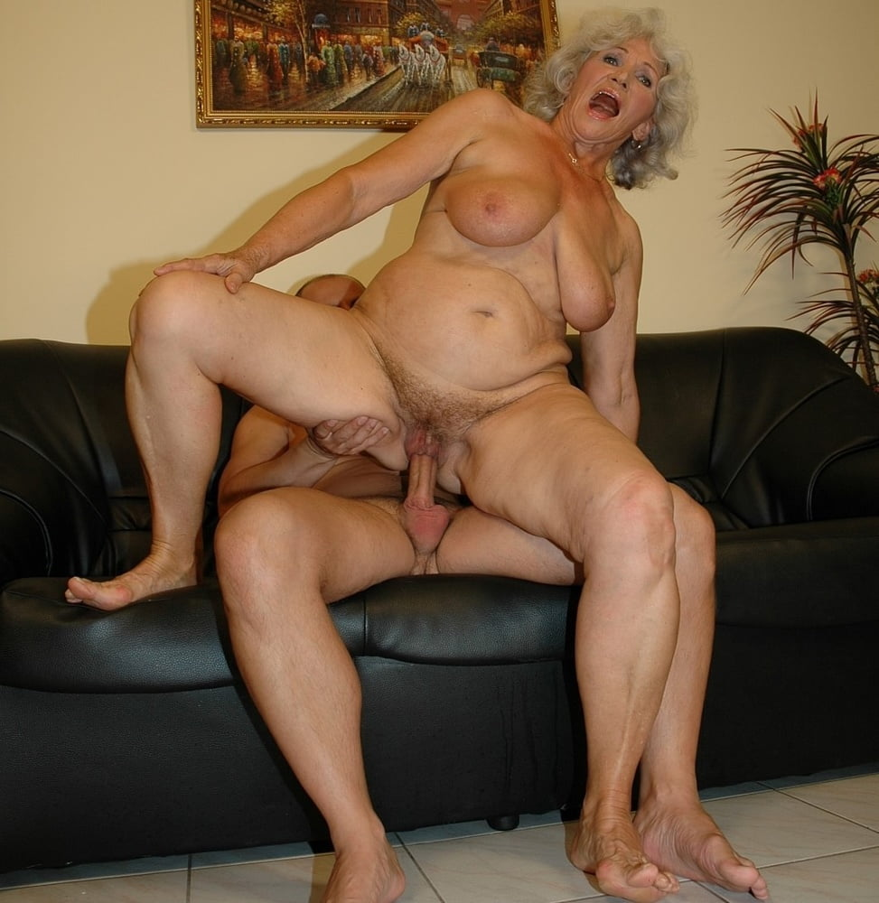 Granny and grandson anal