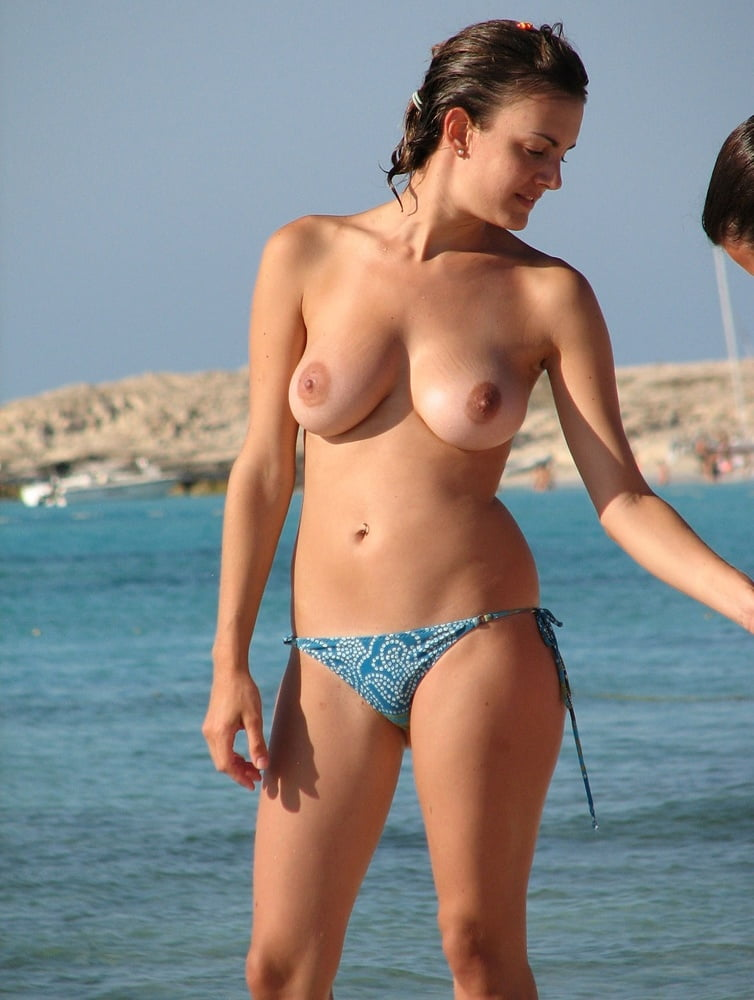 Topless And Naked On The Beach 1