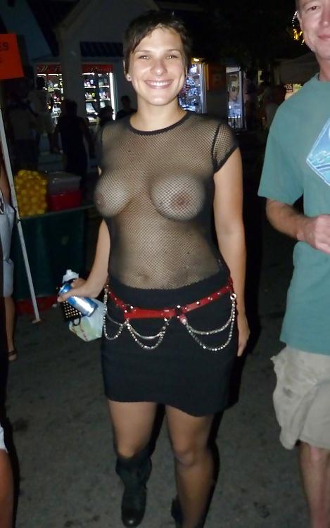 Public See Thru Dress