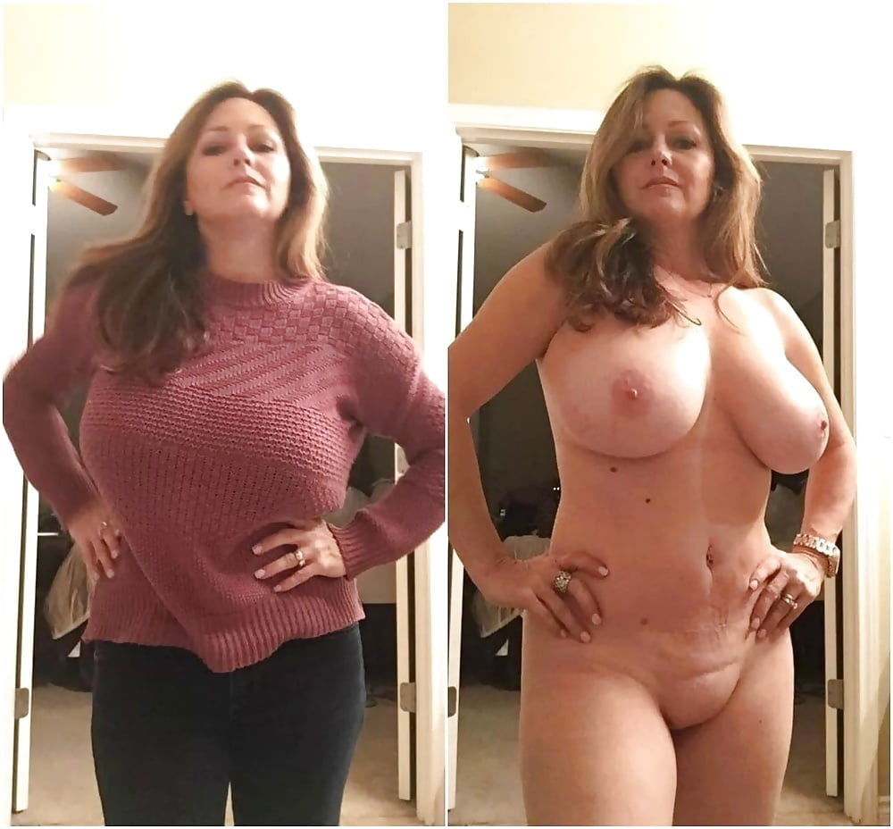 Big tits undressing