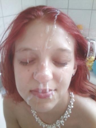 My girlfriend got the first facial cumshot ever!