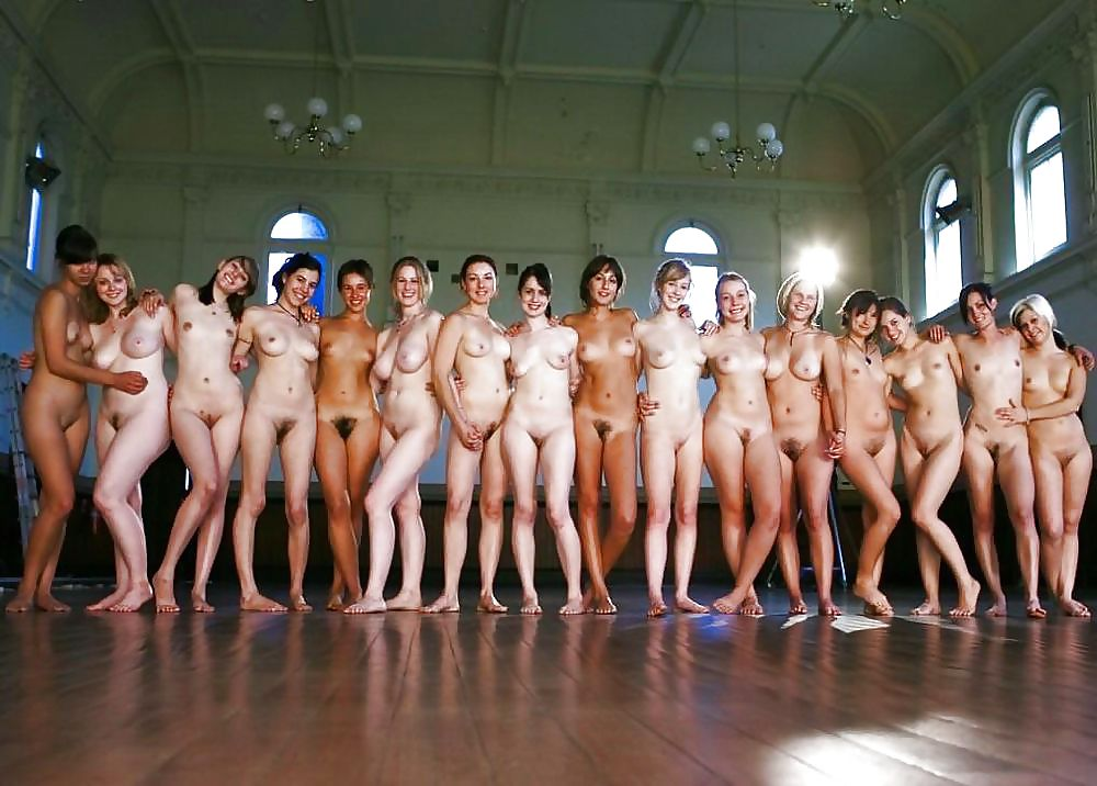 Naked ladies in groups
