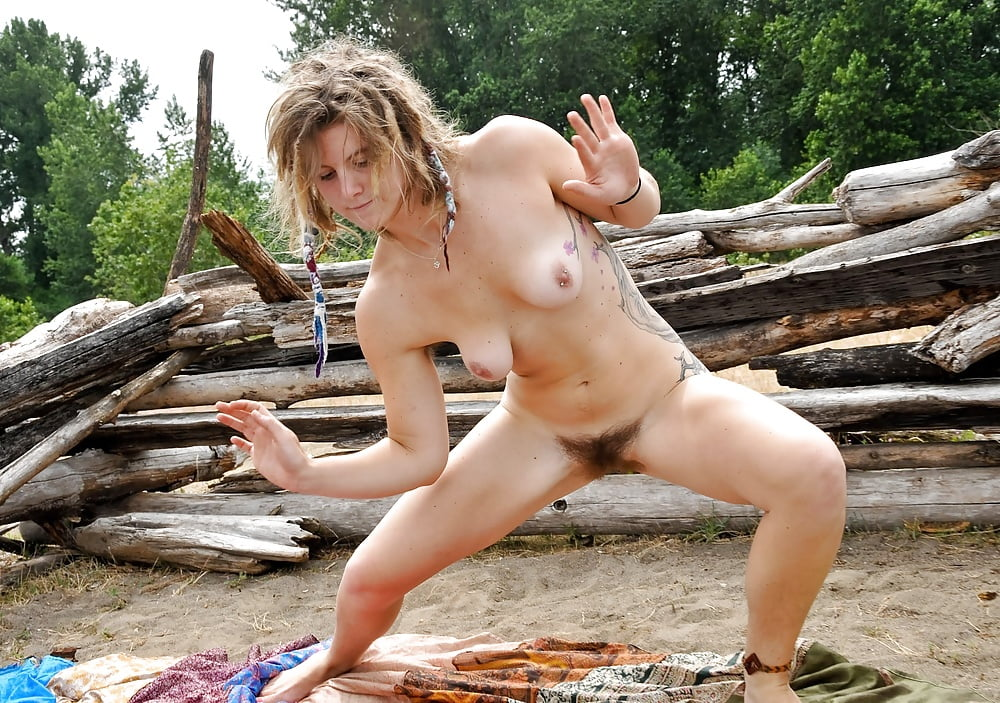 Hippie Woman Road Stock Photos
