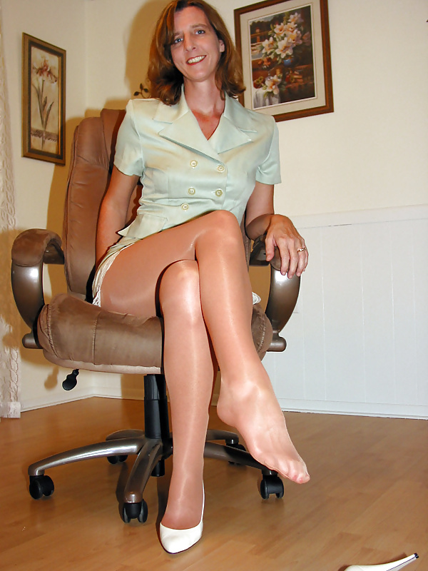 Nylons up my pussy — 1