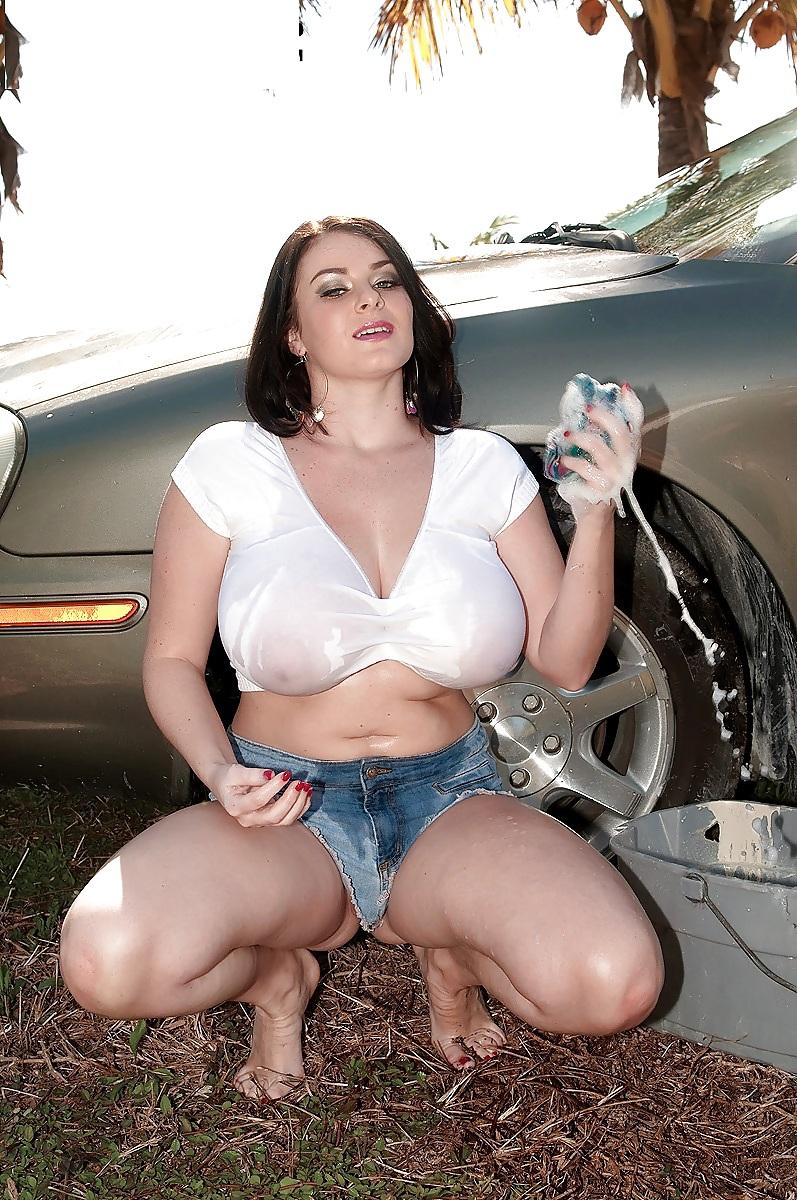 Topless girls wearing jeans