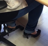 Candid feet and heels at work #9
