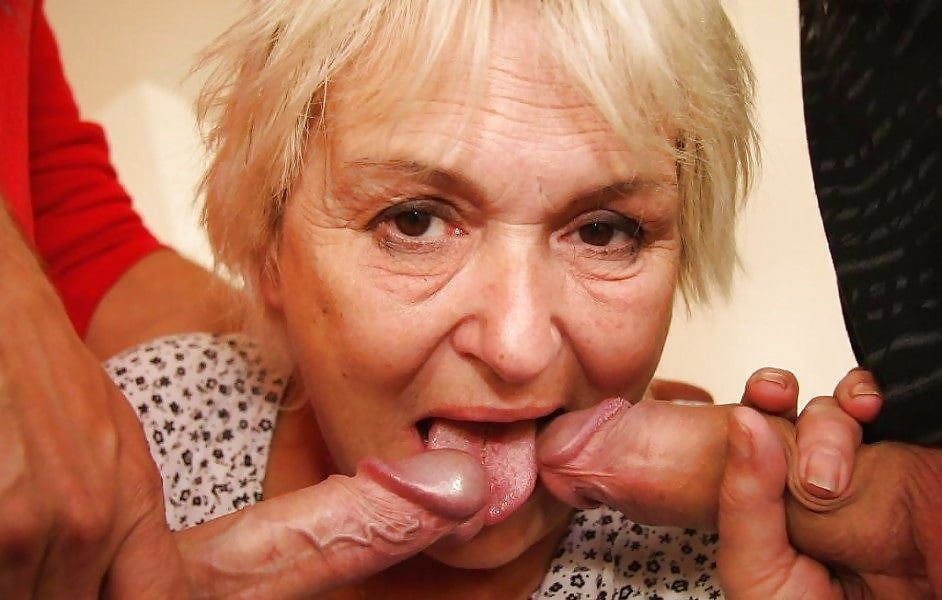 Xxx granny giving blowjob
