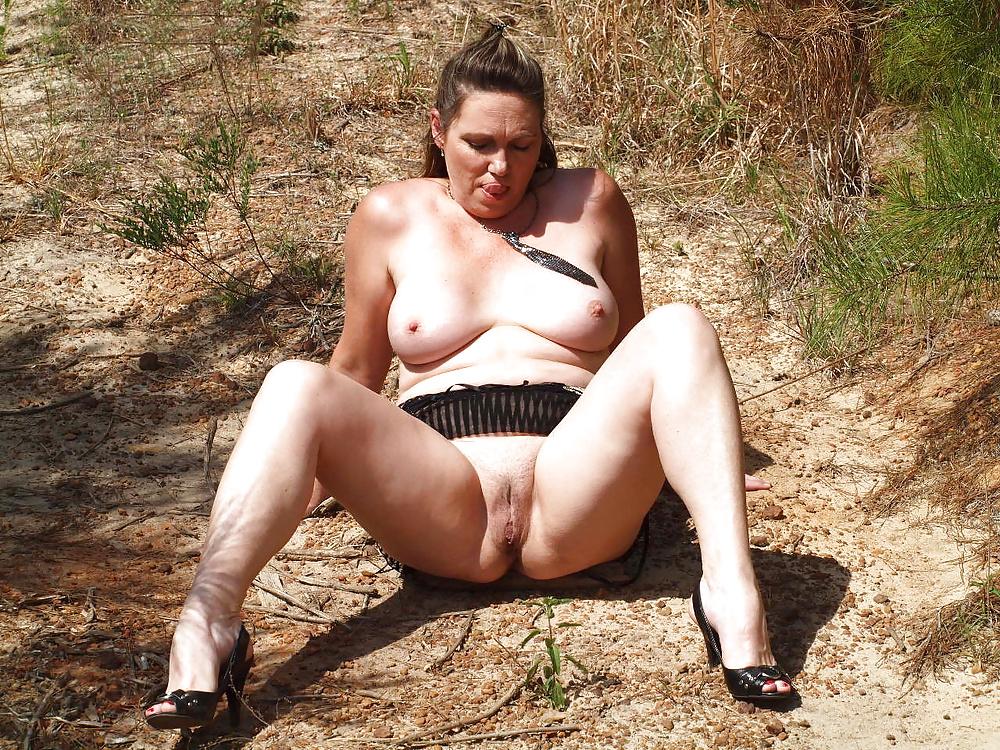 Bbw mature outdoor