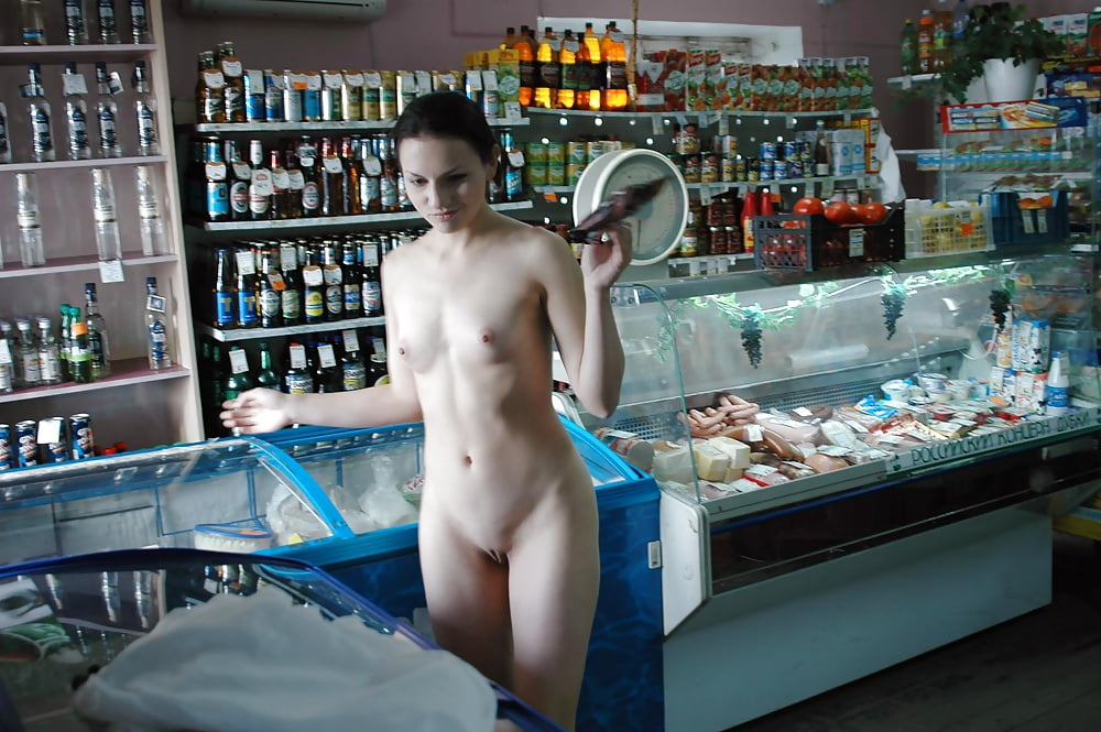 Naked in public shop only one naked