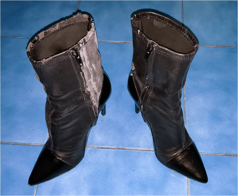 Celine rubber ankle boots