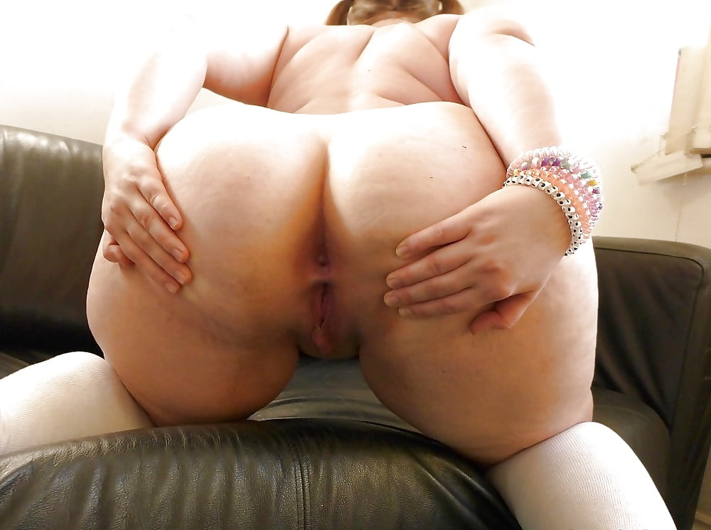 Sexy naked white ass