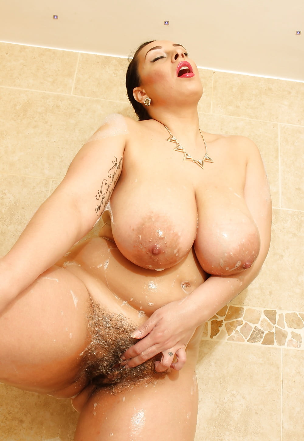 Carano boobs and pussy shower