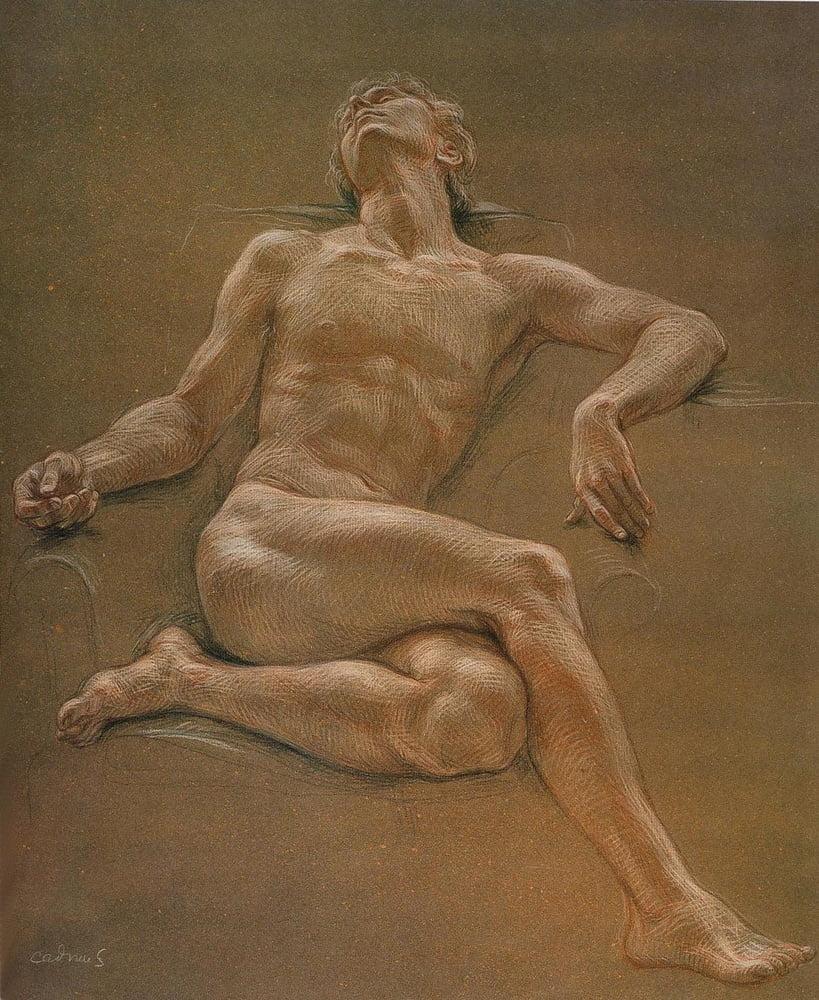 Study Of A Male Nude Wielding A Club By Sir Edward John Poynter