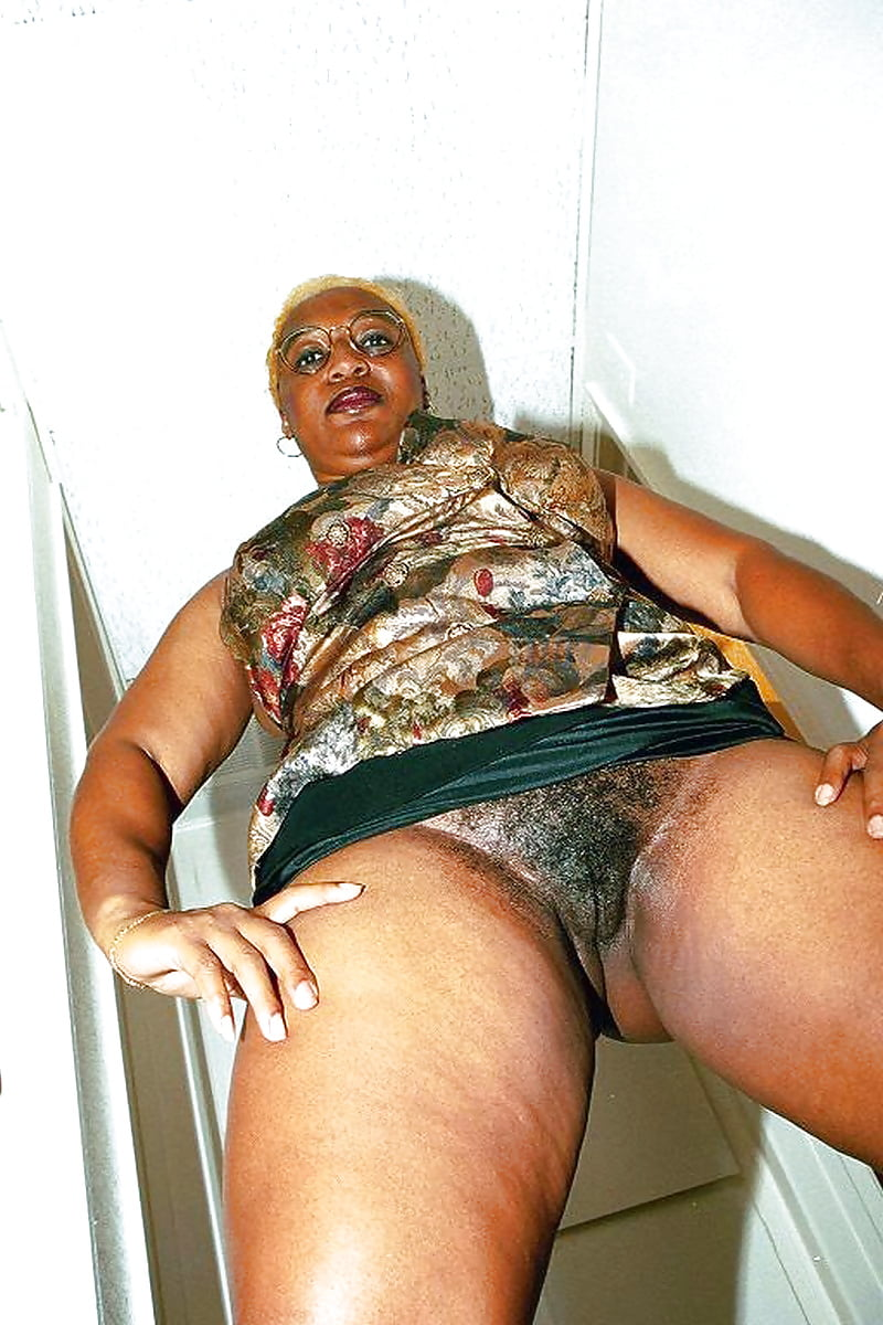 Old black granny naked