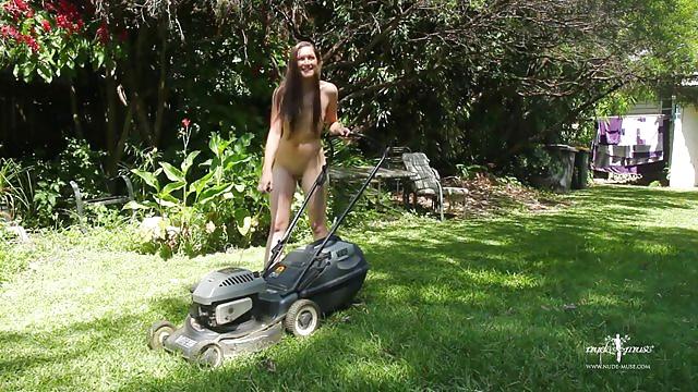 Swimwear Mowing Lawn Nude Pics