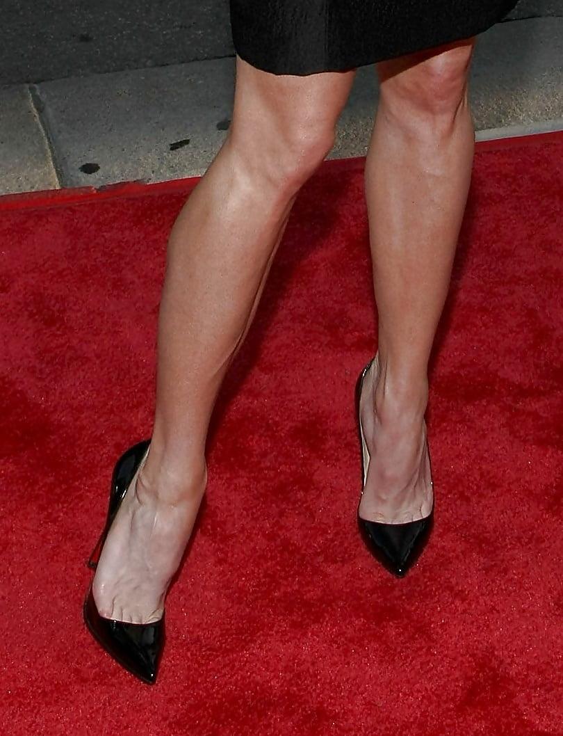 Sexy legs and feet of pretty blonde milf
