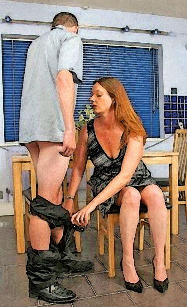 A man sucking a woman breast