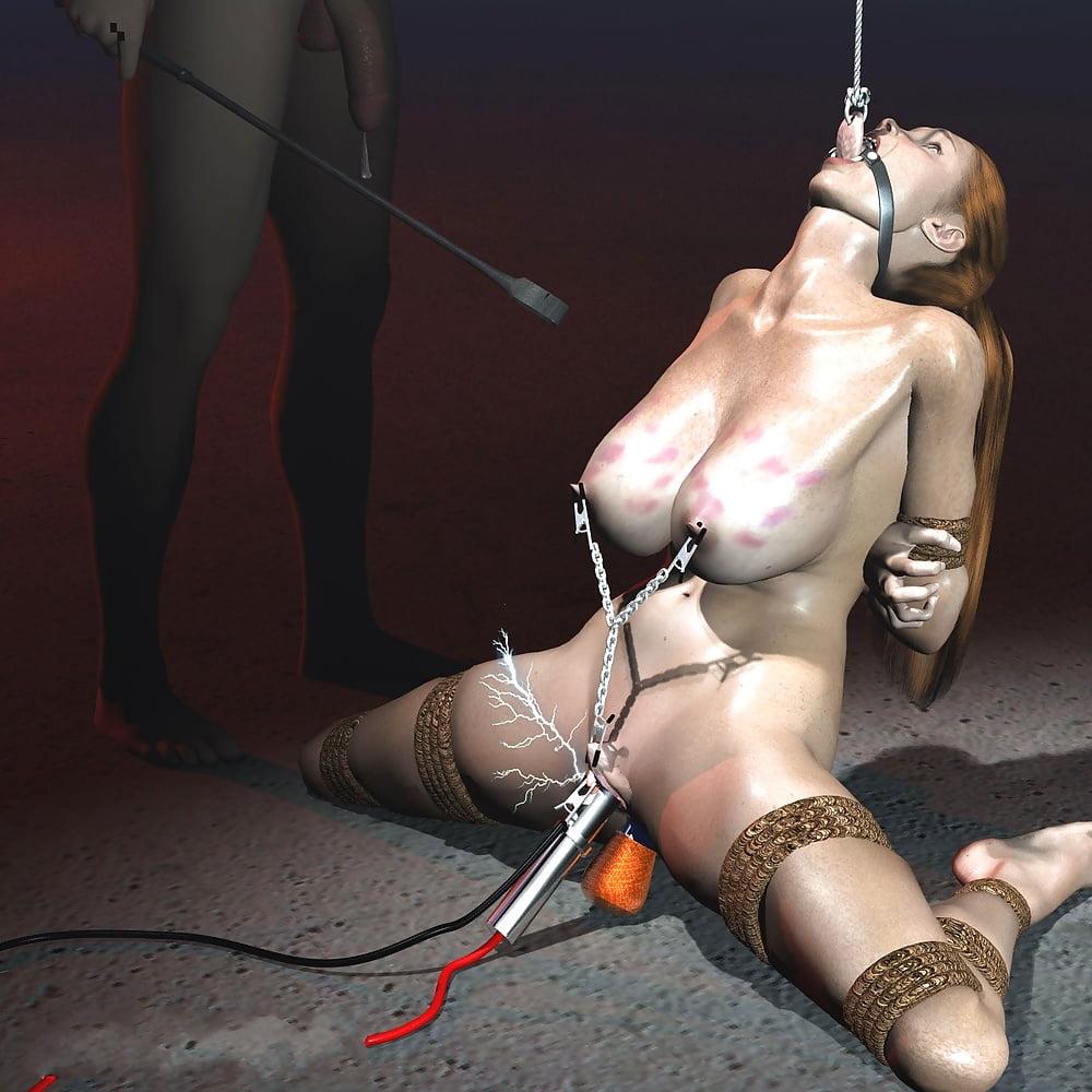 Bondage Electrocution Fantasy Art
