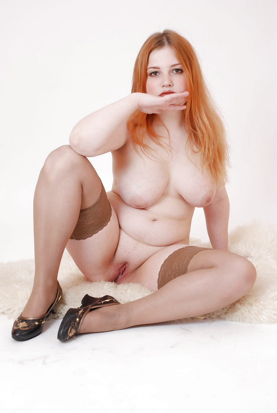 Naked chubby redhead 9