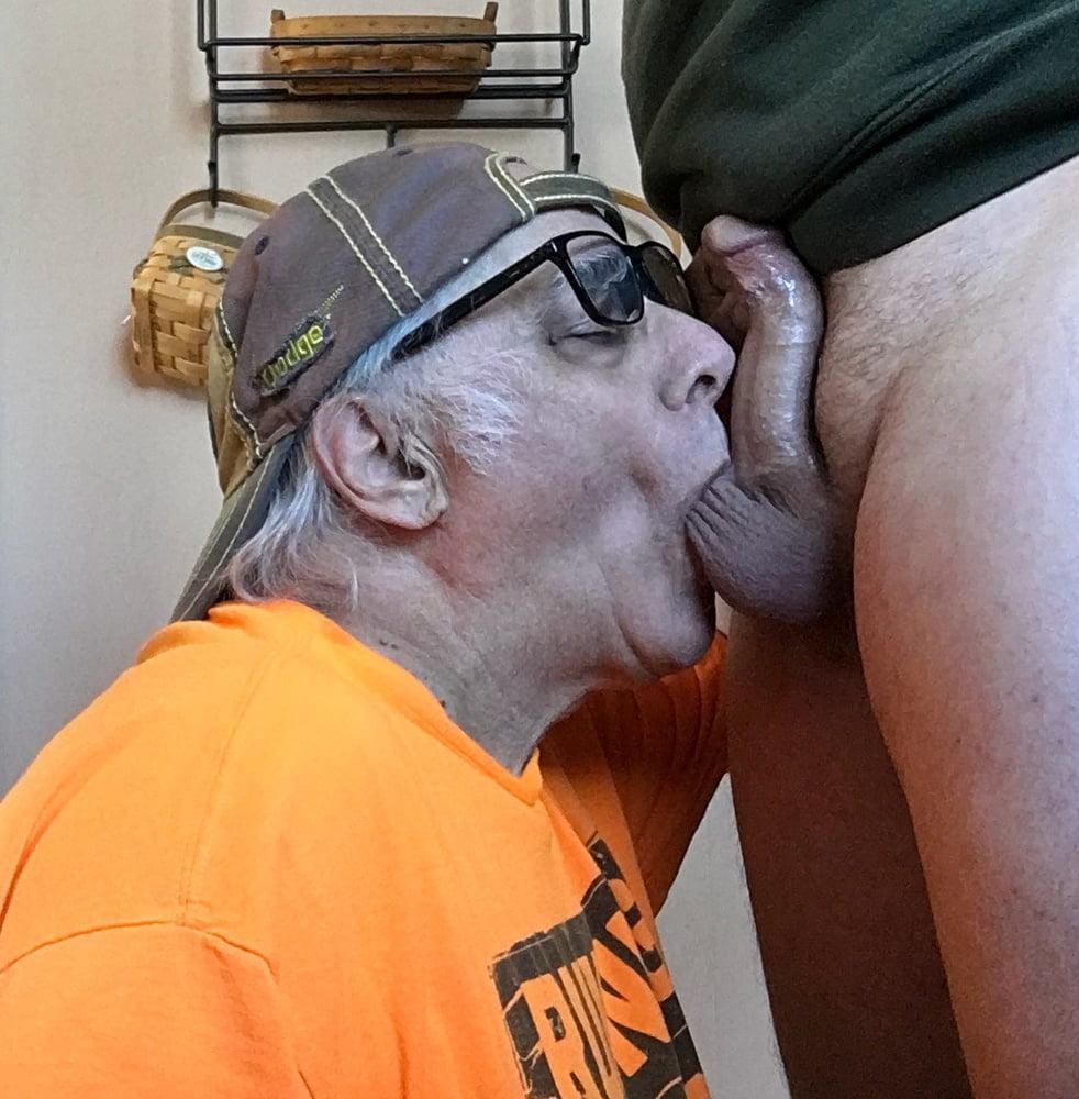 Granny Sucks Grandpa's Cock On The Sofa