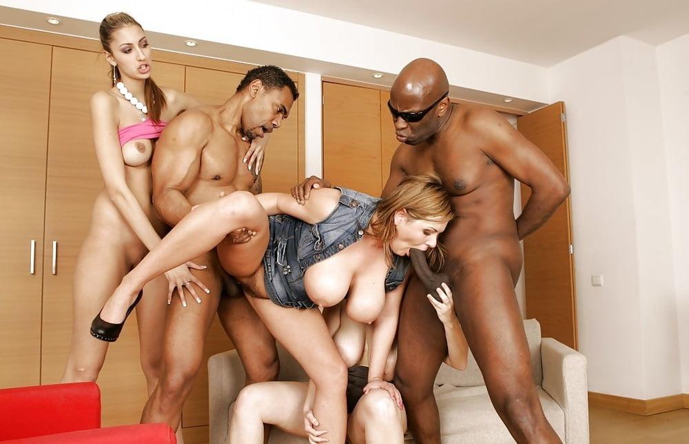 Olga barz kitty jane in a hot interracial foursome