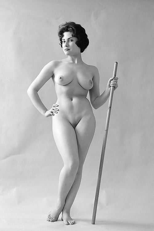 Vintage retro nude women