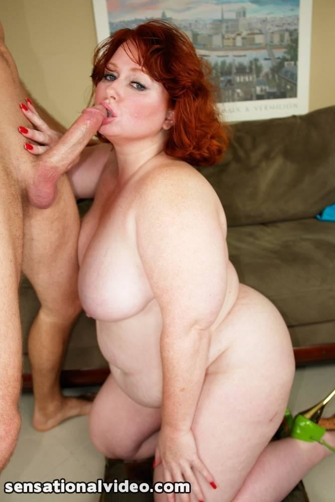 Bbw redhead blowjob free video — photo 7
