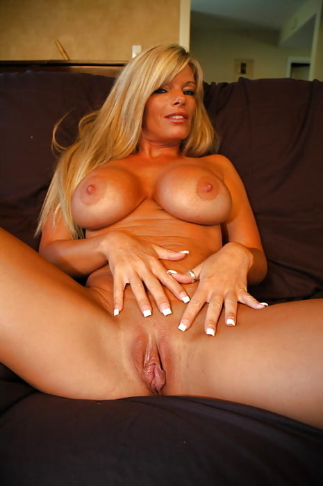 Awesome Blonde Milf Cougar Spreads Pussy