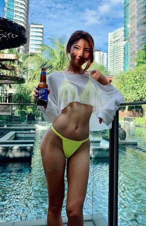 Hot sexy korean model-8701