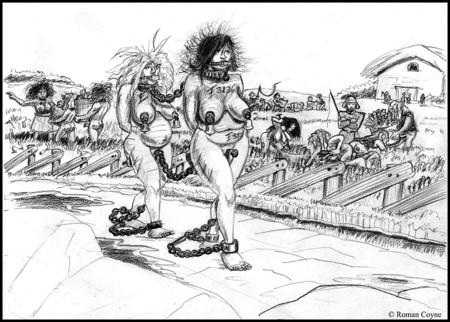 bdsm Pencil slave bed sketch on