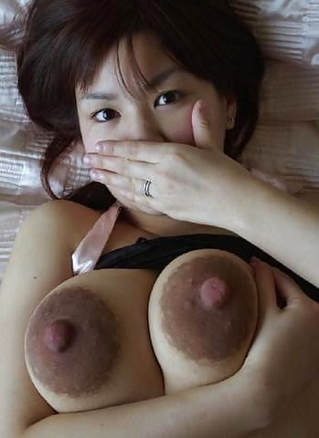 Very huge puffy asian nipples