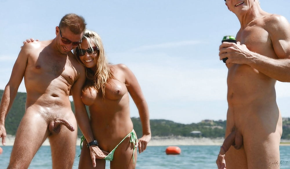 Cfnm guy photographed on nude beach by gym woman