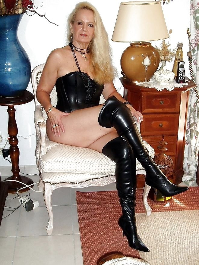 Sexy boots mature ladies