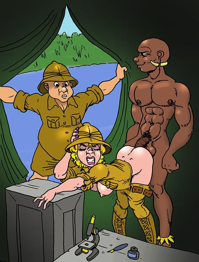 Gemischtrassiger Mosen Cartoon Facialsex