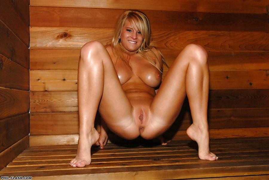 Nude In Sauna
