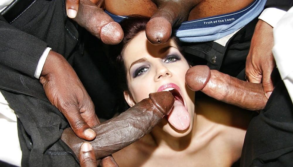 Busty Brunette In Sexy Lingerie Fucked By Huge Black Dick