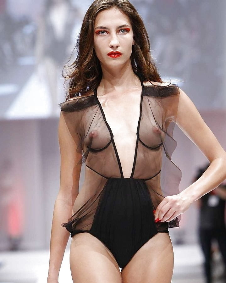 Bella Hadid Shows Bit Too Much Boob As Tape Comes Unstuck On Runway